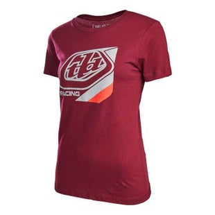 Troy Lee Womens T Shirt Precision Womens Short Sleeve T-Shirt - Maroon