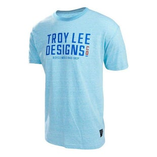 Troy Lee T Shirt Step Up Short Sleeve T-Shirt - Aqua Snow