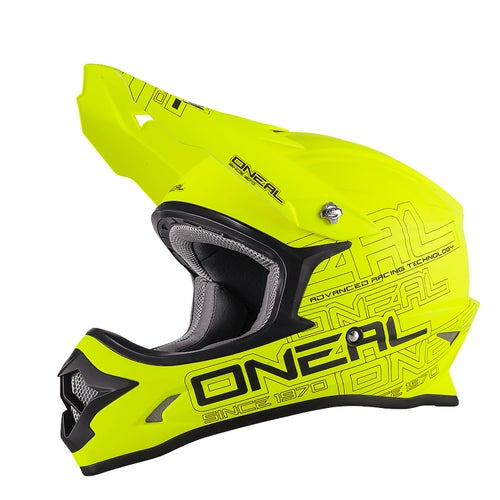 O Neal 3series Zen Motocross Helmet - Neon Yellow