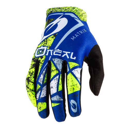 O Neal Matrix Glove Zen Motocross Gloves - Blue