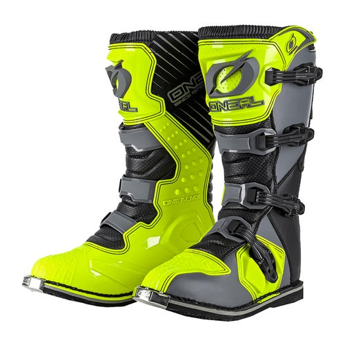 O Neal Rider Boot Motocross Boots - Gray/neon Yellow