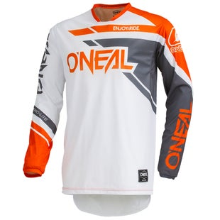 O Neal Hardwear Jersey Rizer Motocross Jerseys - Gray/orange