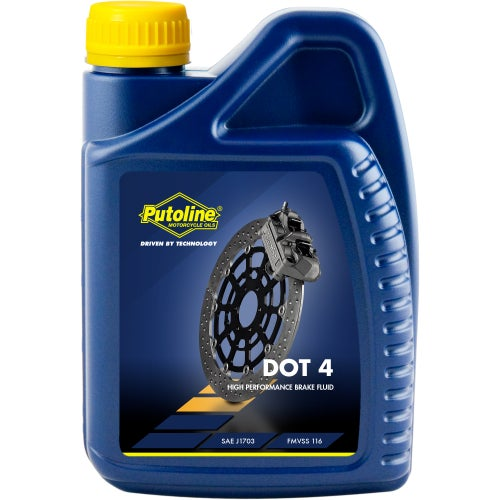 Putoline Dot 4 Brake Fluid 1 Ltr Brake Fluid - Clear