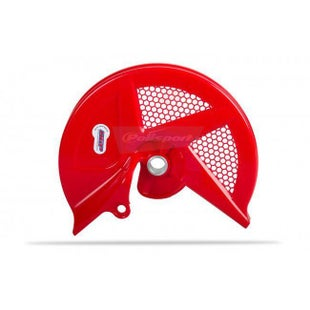 Brake Disc Guard Polisport Plastics Front Disc Guard HONDA CRF 450 09 - 12 Red 04