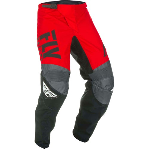 Fly F-16 Pants Youth Motocross Pants - Red Black Grey