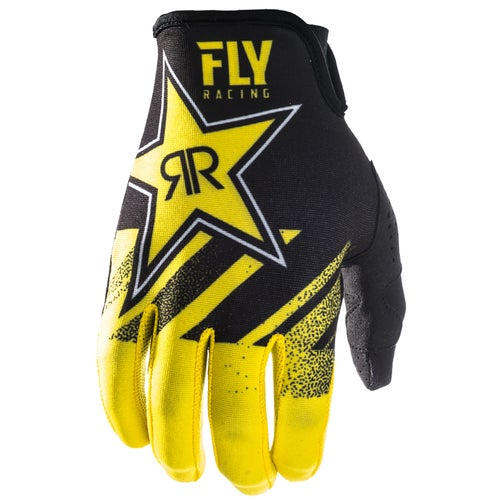Fly Lite Rockstar Motocross Gloves - Yellow Black