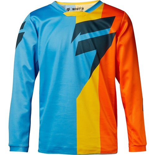 Shift WHIT3 LABEL Tarmac Boys Motocross Jerseys - Orange and Blue