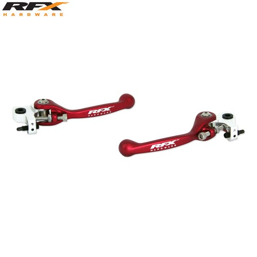 RFX Race Series Forged Flexible Lever Set AJP Trials All Not Sherco Flexi Lever Set - Red