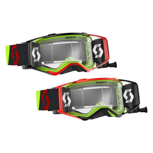 Scott Sports Prospect Works Roll Motocross Goggles - Red Yellow Works Roll off