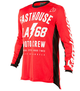 Fasthouse LA68 L1Jersey Boys Motocross Jerseys - Red