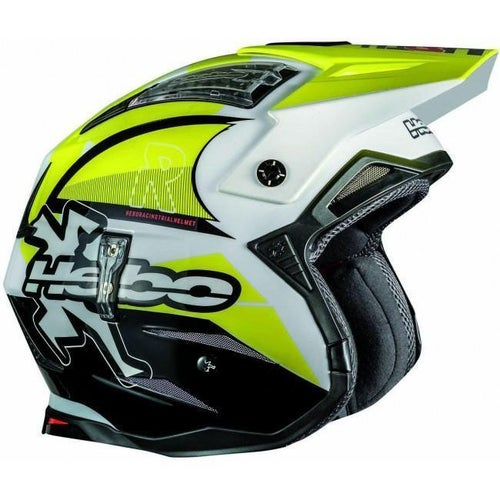 Trials Helmet Hebo Zone 4 Fibre LinkYellow Medium - rials Helmet Zone 4 Fibre Link Trials Helmet Yellow Medium