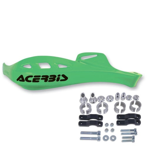 Acerbis Rally Profile Handguards Green , MX Hand Guard - Inc Universal Mount Kit