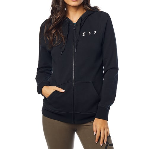 Fox Racing SuperZip Fleece Dames Hoody met Rits - Black