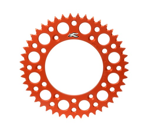 Rear Sprocket Renthal Sprocket Twinring Orange Ktm 50t - Orange