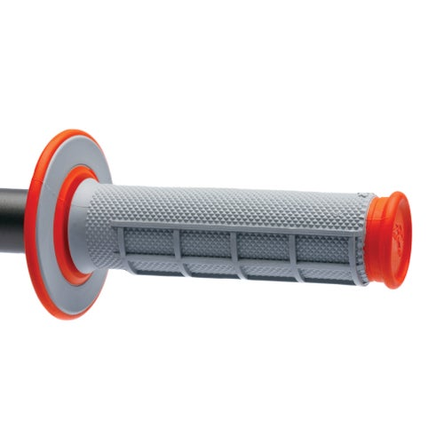 Renthal Dual Soft/firm 50/50 Orange MX Handlebar Grip - Orange
