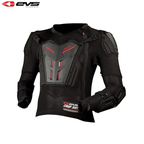 EVS Comp Motocross Protection Suit Youth Body Protection - Black
