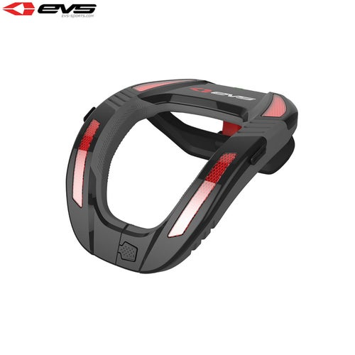 EVS Youth R4k Koroyd Neck Protector , Neck Protection - Black Red