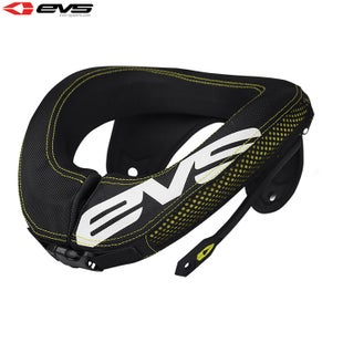 EVS R3 Neck Protection Inc Armour Straps Youth Neck Protection - Black