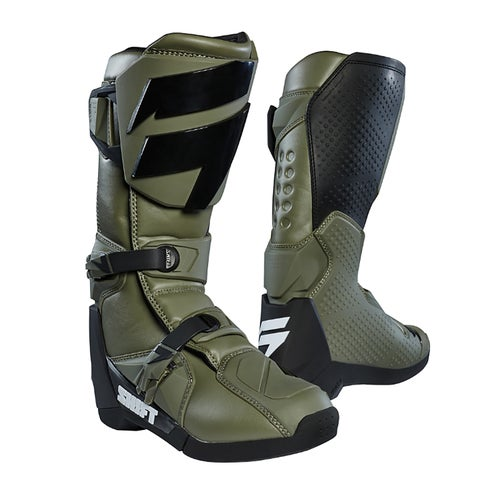 Shift WHIT3 Label Motocross Boots - Fatigue Green