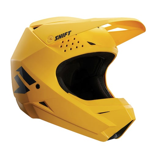 Shift WHIT3 Label MX Motocross and Enduro Helmet Motocross Helmet - Yellow