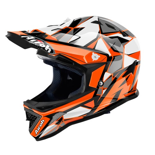 Airoh Archer Youth Boys Motocross Helmet - Orange
