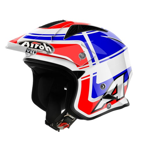 Trials Helmet Airoh Trr S Wintage - Blue