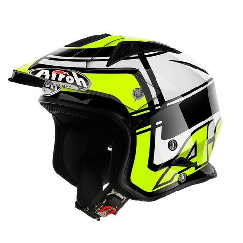Airoh Trr S Wintage Trials Helmet - Yellow