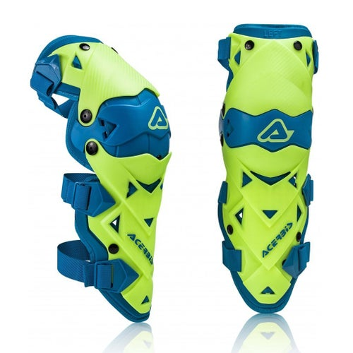 Acerbis Impact EVO 30 Knee Guards , Knäskydd - Fluo Yellow Blue