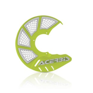 Acerbis X Brake Vented Front Disc Protector White Flou Brake Disc Guard - Yellow