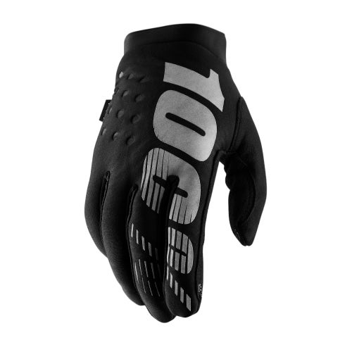 100 Percent Brisker YOUTH Youth Motocross Gloves - Black/grey