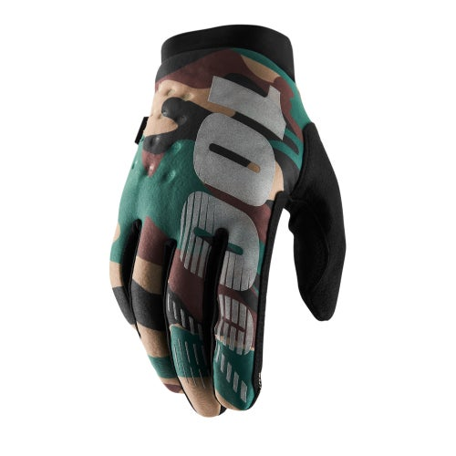 100 Percent Brisker YOUTH Motocross Gloves - Camo/black