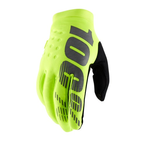 100 Percent Brisker Motocross Gloves - Fluo Yellow