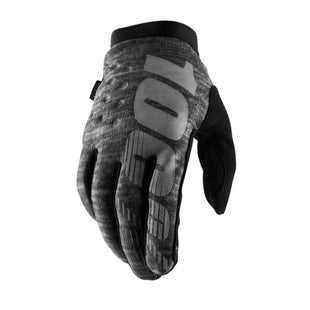 100 Percent Brisker Cold Weather Motocross Gloves - Heather Grey