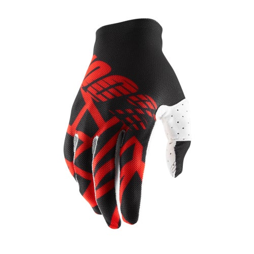 100 Percent Celium 2 Motocross Gloves - Black/red/white