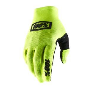 100 Percent Celium 2 Motocross Gloves - Fluo Yellow/black