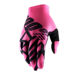 100 Percent Celium 2 Motocross Gloves - Neon Pink/black