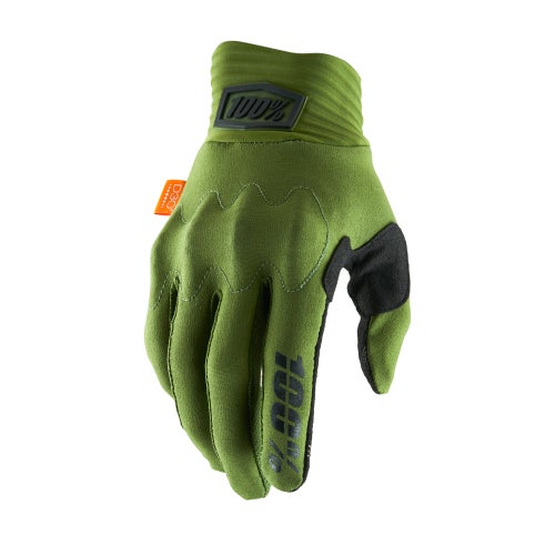 100 Percent Cognito , MX Glove - Army Green/black