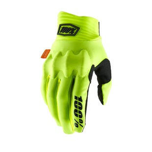 100 Percent Cognito Motocross Gloves - Fluo Yellow/black