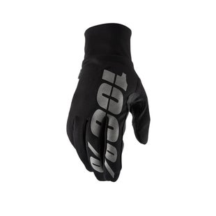 100 Percent Hydromatic Waterproof Motocross Gloves - Black