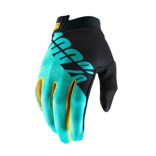 100 Percent Itrack Motocross Gloves - Black/aqua