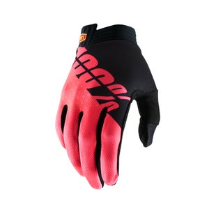 100 Percent Itrack Motocross Gloves - Black/fluo Red