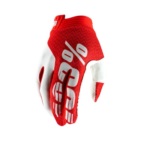 100 Percent Itrack Motocross Gloves - Red/white