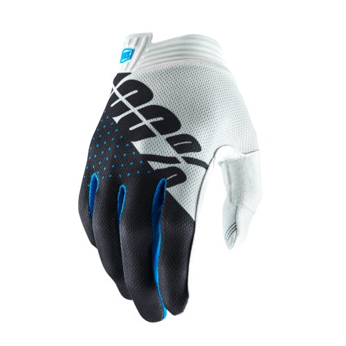 100 Percent Itrack Motocross Gloves - White/steel Gray