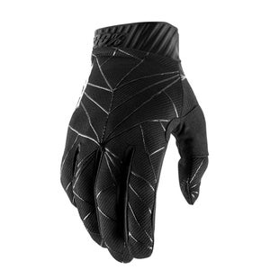 100 Percent Ridefit Motocross Gloves - Black/white