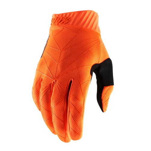 100 Percent Ridefit Motocross Gloves - Fluo Orange/black