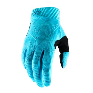 100 Percent Ridefit Motocross Gloves - Ice Blue/black