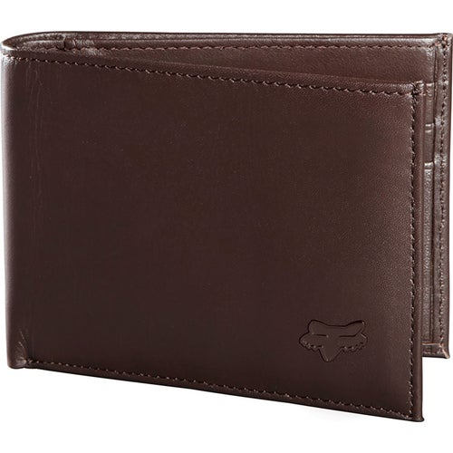 Fox Racing Bifold Leather Wallet - Brown