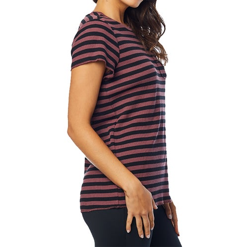 Fox Racing Striped Out Crew Womens Short Sleeve T-Shirt - Rse