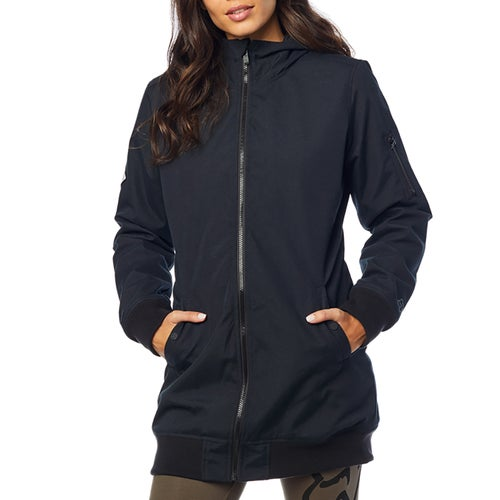 Fox Racing Dazed Long Bomber Womens Jacket - Blk