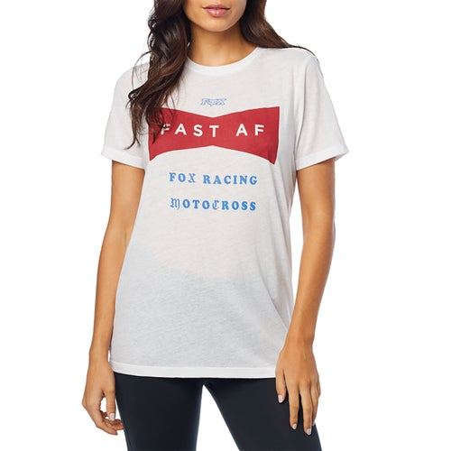 Fox Racing Fast AF Crew Womens Short Sleeve T-Shirt - Wht
